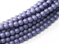 Perełki lakierowane fioletowe 3 mm - sznur