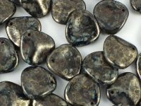 Rose Petals Ancient Grey Jet 14x13 mm - 5 sztuk
