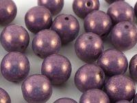 Round Beads Luster - Metallic Amethyst 8 mm - 10 sztuk