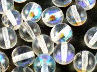 Round Beads Crystal AB 8 mm - 10 sztuk