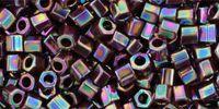 TOHO Hex 8o-406 Opaque-Rainbow Oxblood - 10 g