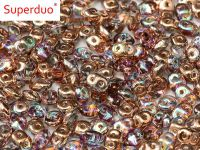SuperDuo 2.5x5mm Crystal Copper Rainbow - 10 g