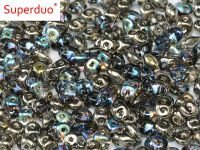 SuperDuo 2.5x5mm Crystal Graphite Rainbow - 10 g