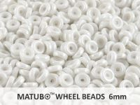 Wheel Beads Luster - White 6mm - 5 g