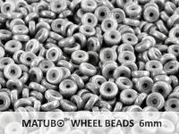 Wheel Beads Luster - Metallic Grey 6mm - 5 g