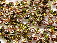 SuperDuo 2.5x5mm Copper - Olivine - 10 g