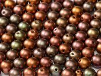 Round Beads Matte Metallic Iris Purple 6 mm - 20 sztuk