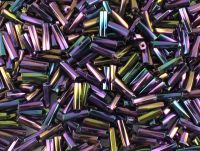 PRECIOSA Twisted Hex Bugle 3-Metallic Iris Purple - 10 g