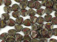 Rose Petals Opal Lt Red Travertin 8x7 mm - 10 sztuk