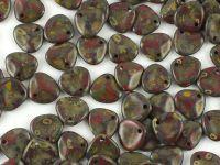 Rose Petals Opal Lt Red Travertin 8x7 mm - 10 sztuk