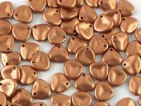 Rose Petals Matte Metallic Copper 8x7 mm - 10 sztuk