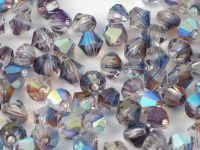 Bicone 4mm Crystal Rainbow Heather - 6 sztuk