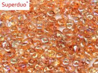 SuperDuo 2.5x5mm Crystal Orange Rainbow - 10 g