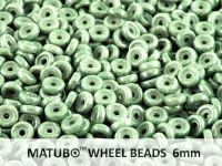Wheel Beads Luster - Metallic Green 6mm - 5 g