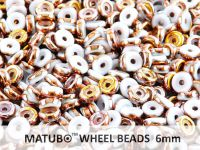 Wheel Beads Copper - White 6mm - 5 g