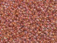 TOHO Round 11o-186 Inside-Color Lustered Crystal - Terra Cotta Lined - 10 g