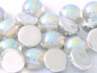 Dome Bead Crystal Silver Rainbow 12x7mm - 1 sztuka