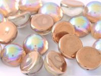 Dome Bead Crystal Copper Rainbow 12x7mm - 1 sztuka