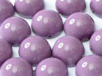 Dome Bead Fiesta Hollyhock Purple 14x8mm - 1 sztuka