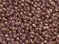 TOHO Round 8o-203 Gold-Lustered Lt Amethyst - 10 g