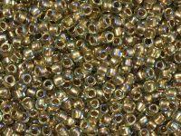 TOHO Round 8o-998 Gold-Lined Rainbow Lt Jonquil - 10 g