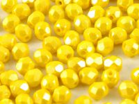 FP 4mm Luster - Opaque Yellow - 40 sztuk