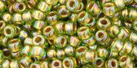 TOHO Round 8o-996 Gold-Lined Rainbow Peridot - 10 g