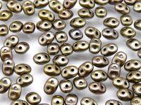 SuperDuo 2.5x5mm Matte Metallic Zinc Iris - 100 g