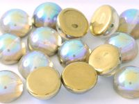 Dome Bead Crystal Golden Rainbow 12x7mm - 1 szt
