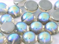 Dome Bead Crystal Graphite Rainbow 12x7mm - 1 sztuka
