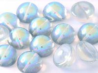 Dome Bead Crystal Blue Rainbow 12x7mm - 1 szt