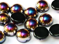Dome Bead Jet Sliperit 12x7mm - 1 sztuka