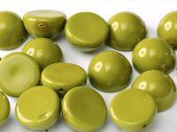 Dome Bead Fiesta Pea Green 12x7mm - 1 sztuka