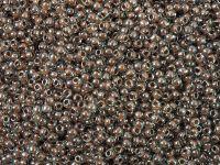TOHO Round 11o-1071 Inside-Color Crystal - Antique Plum Lined - 10 g
