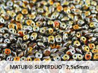 SuperDuo 2.5x5mm Jet Marea x2 - 10 g