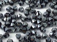 Bicone 3mm Hematite - 100 sztuk