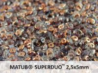 SuperDuo 2.5x5mm Black Diamond Semi Bronze - 10 g