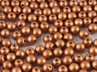 Round Beads Matte Metallic Copper 4 mm - opakowanie