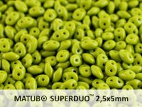 SuperDuo 2.5x5mm Opaque Olive - 10 g