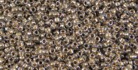 TOHO Round 15o-989X Gold-Lined Crystal (X) - 5 g