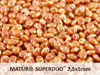 SuperDuo 2.5x5mm White Full Apricot - 10 g