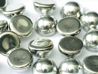 Dome Bead Silver 12x7mm - 1 sztuka