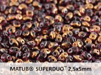 SuperDuo 2.5x5mm Amethyst Semi Bronze - 10 g