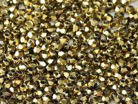 FP 3mm Yellow Gold - Crystal - 40 sztuk