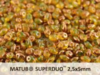 SuperDuo 2.5x5mm Jonquile Semi Bronze - 10 g