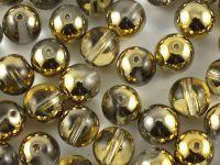 Round Beads Gold 1/2 8 mm - 10 sztuk