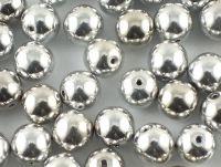 Round Beads Silver 8 mm - 10 sztuk