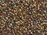 TOHO Round 11o-276 Inside-Color Rainbow Topaz - Gold Lined - 10 g