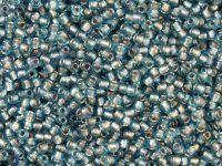 TOHO Round 11o-277 Inside-Color Aqua - Lavender Lined - 10 g