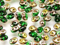 SuperDuo 2.5x5mm Copper - Green - 10 g